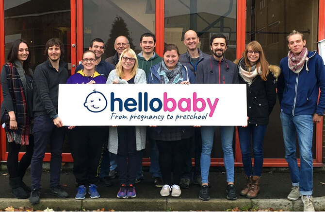 A group of people involved with Hello Baby
